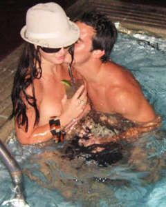 Britney in Hot Tub